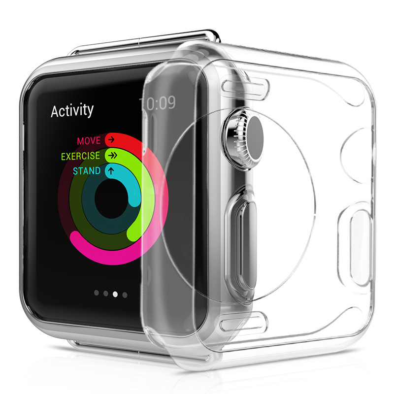 купить Case For apple watch 42mm 38mm Transparent TPU soft silicone Protective cover for iWatch Series 2 / 3 Watch accessories недорого