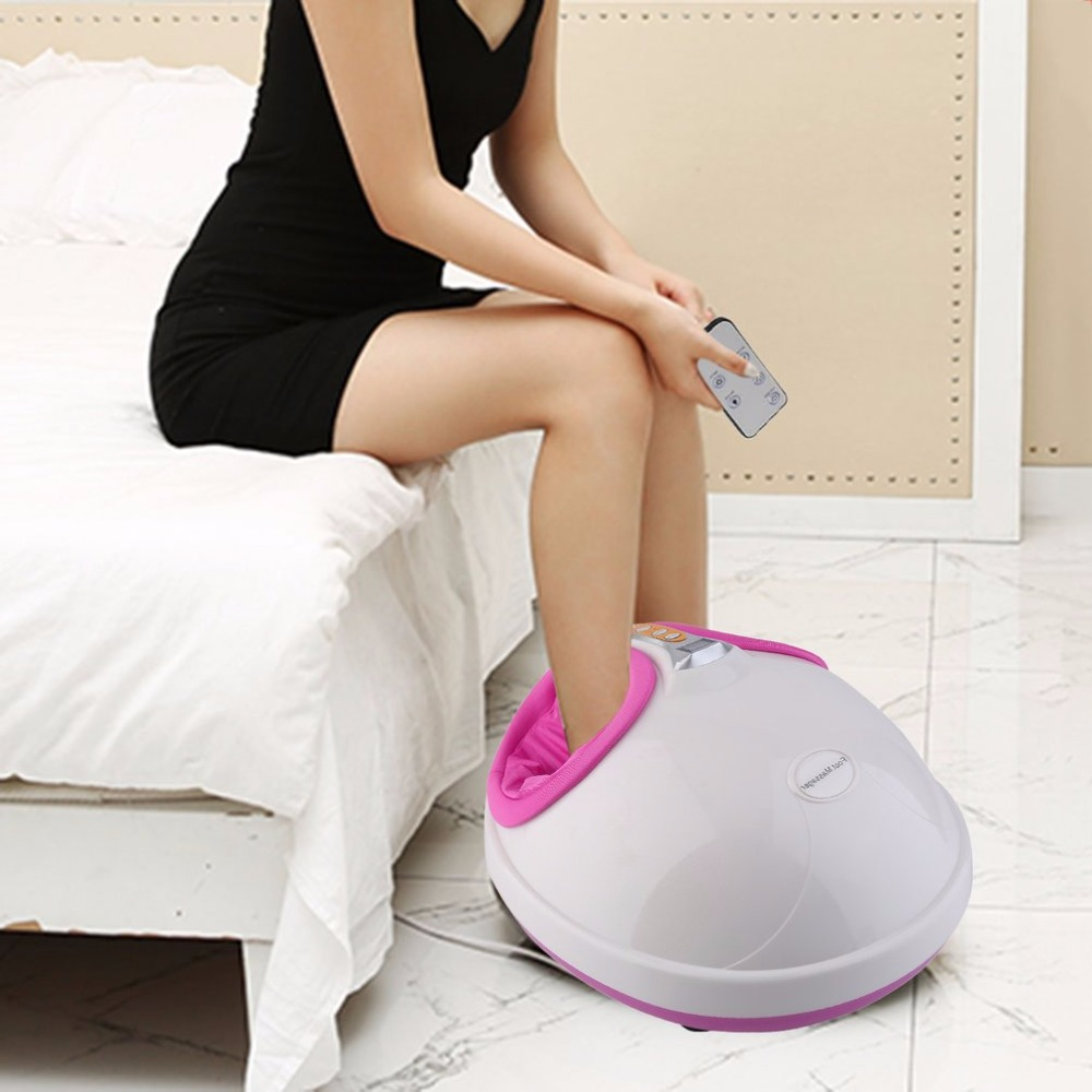 220V Electric Antistress Heating Therapy Shiatsu Kneading Foot Massager Vibrator Foot Massage Machine Foot Care Device Best Gift healthsweet 1pc hot electric foot massager foot massage machine for health care infrared with heating and therapy a317