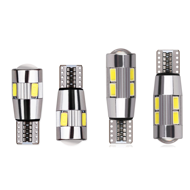 2pcs T10 Canbus Led Car Light 6smd/10smd 5630 Auto No Error Free 12V W5W 194 168 Bulb Stop Turn Signal Clearance Light Interior cyan soil bay 1x canbus error free white t10 5630 6 smd wedge led light door dome bulb w5w 194 168 921 interior lamp