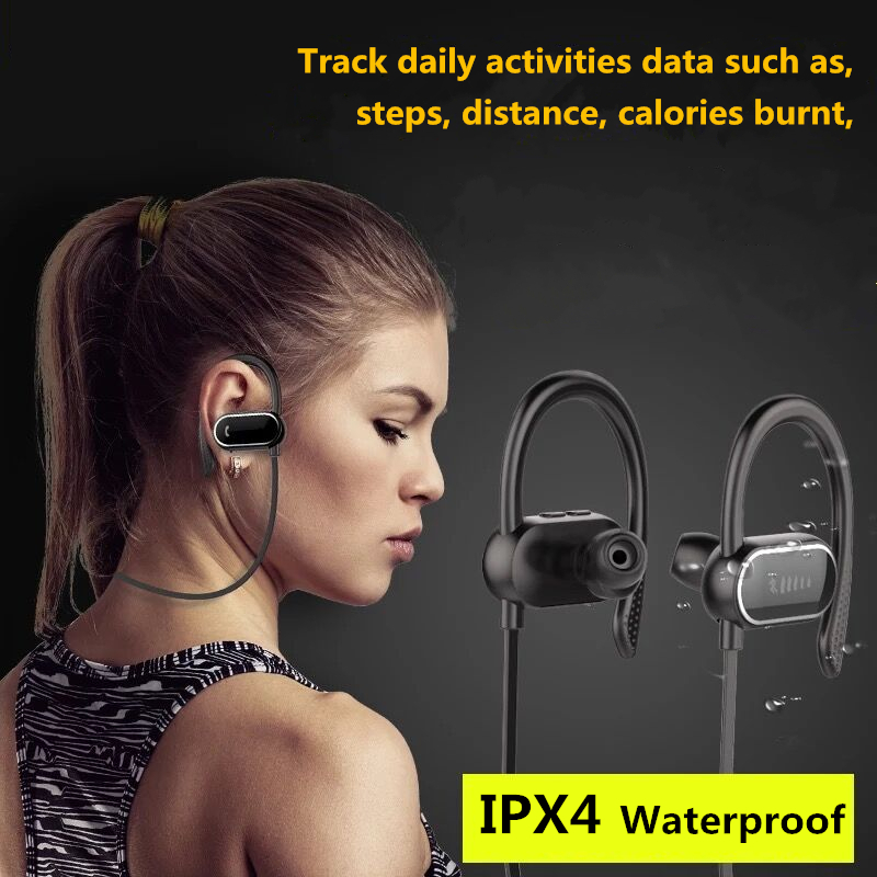 DOITOP S9 Sport Bluetooth Earphone Headphone Wireless Stereo Running Smart Pedometer Headset with Mic Bass Universal Earpiece #3