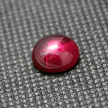 AAAAA round Shape Cabochon red loose stone ruby gemstones rubies for jewelry created DIY making flat base flawless excellent