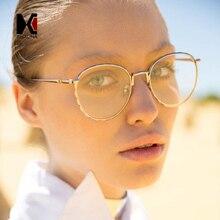 SHAUNA Classic Women Round Sunglasses Retro Men Purple Tinted/Clear Lens Glasses Frame