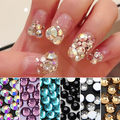 1440 Pcs Colorful Rhinestones Flat Back Accessories Diy Phone Case Nail Decals