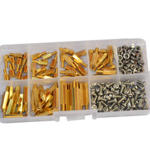M3 Brass Male Female Hex Standoff Threaded Mount PCB Motherboard Hexagon Spacer Bolt Screw Long Nut Assortment Kit Set clos 25mm body length 20 pcs screw pcb stand off spacer hex m3 male x m3 female brass hex spacers screw nut promotion wholesale