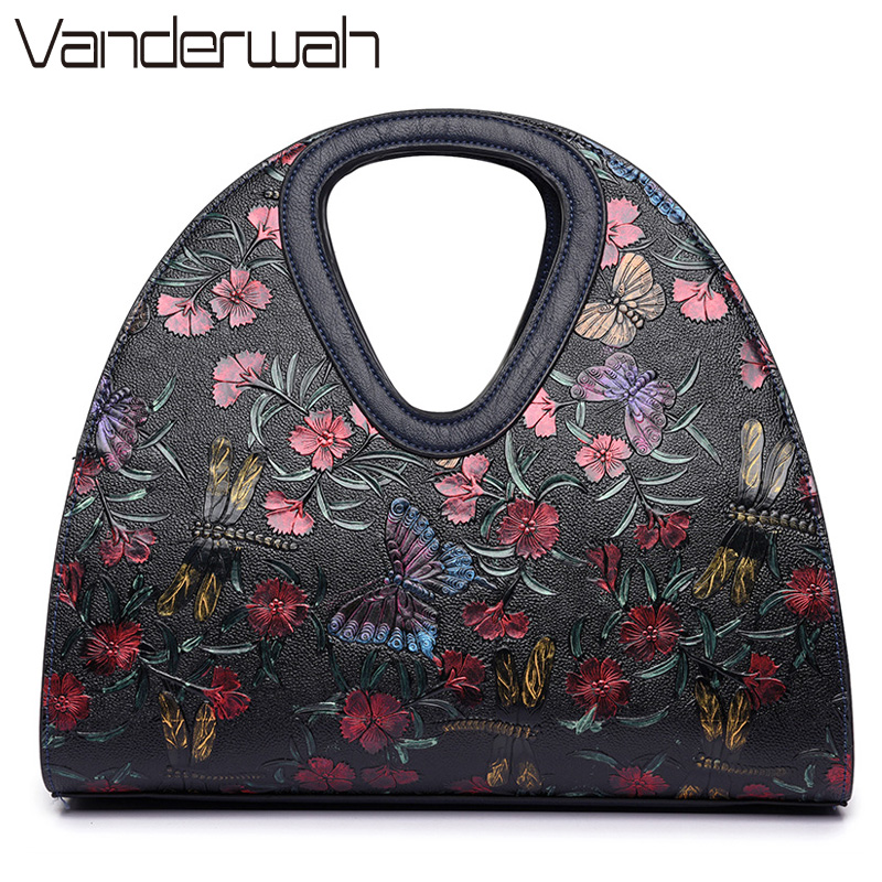 Butterfly bag luxury handbags women bags designer brand flower ladies hand bag dragonfly handbag 2017 Sac a main femme de marque luxury handbags women bags designer retro embossed hand painted leather bag brand ladies hand bags sac a main femme de marque
