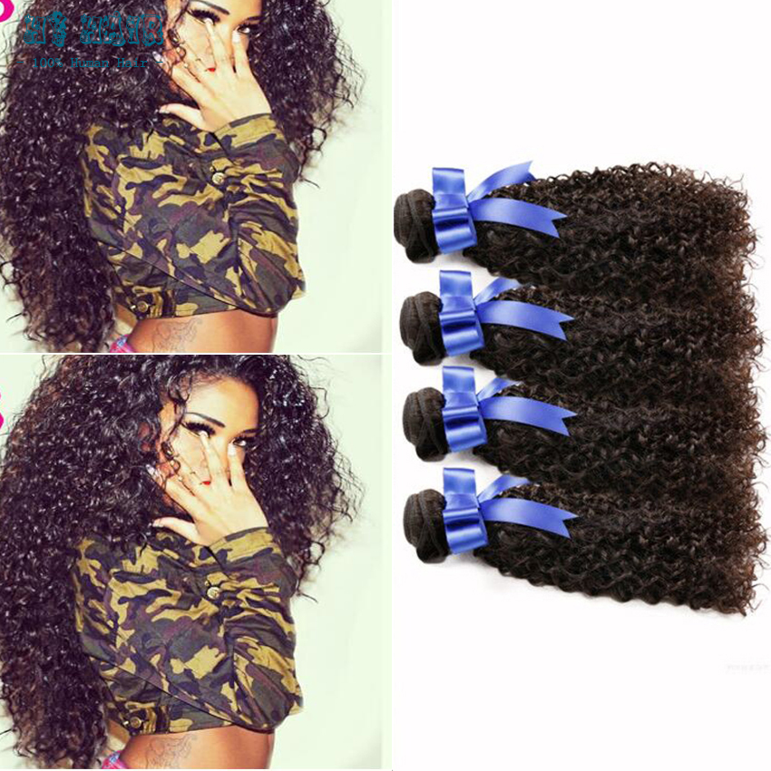 New arrival Brazilian Virgin Deep Curly Hair 4bundle deal a lot Annabelle Hair Products100g black color for woman free shipping