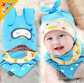 Tire cap newborn baby hat set spring and autumn 0 - 3 - 6 months old 0-1 year old 100% full cotton pullover baby hat