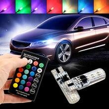 1шт Т10 W5W и RGB светодиодные лампы авто габаритные огни 194 168 Клин дистанционное интерьер чтение источник света автомобилей стайлинг