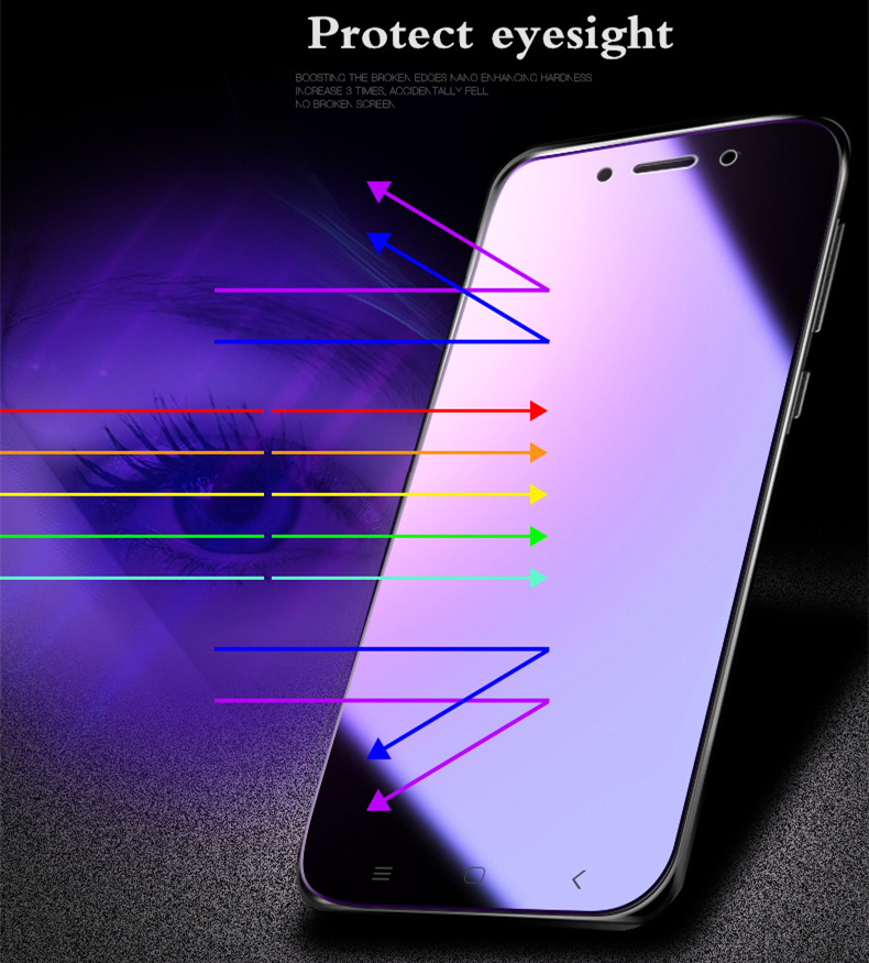 Image 3 - 2Pcs/lot Full Tempered Glass For Xiaomi Mi Max 2 3 Pro Screen Protector 0.26mm 9H Anti Blu ray Glass film for xiaomi mi max 3-in Phone Screen Protectors from Cellphones & Telecommunications
