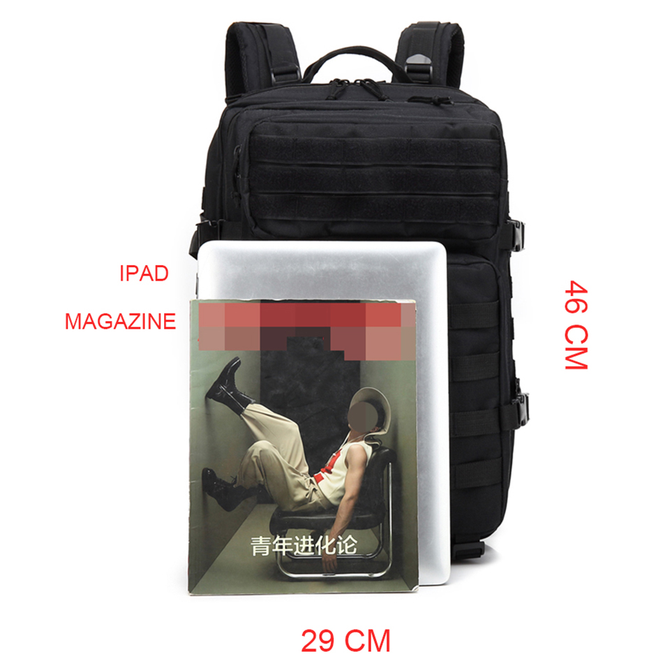 Image 3 - Outdoor Backpacks Tactical Backpack Military Rucksack Bag Mens Women 43L Army Bagpack Sports 3P Flag Waterproof Molle Bags Packs-in Backpacks from Luggage & Bags