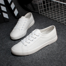New Arrival 2017 Fashion Casual Canvas Shoes Lacing Platform Shoes White Canvas Outdoor Shoes Size 35~40