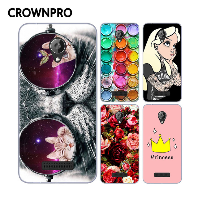 CROWNPRO Micromax Q380 Case Cover TPU Case FOR Micromax Q380 Painting Phone Back Protector Micromax Canvas Spark Q380 Case