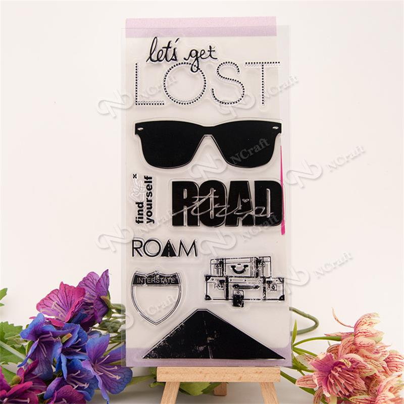 Sunglasses Transparent Clear Stamps / Silicone Seals for DIY scrapbooking photo album/Card Making
