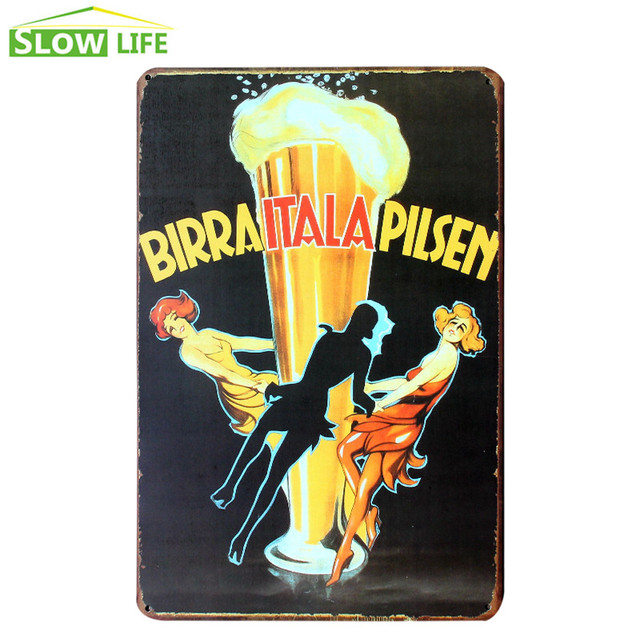 Wholesale Italy Beer Metal Tin Sign Wall Decor Tin Sign Vintage Home ...