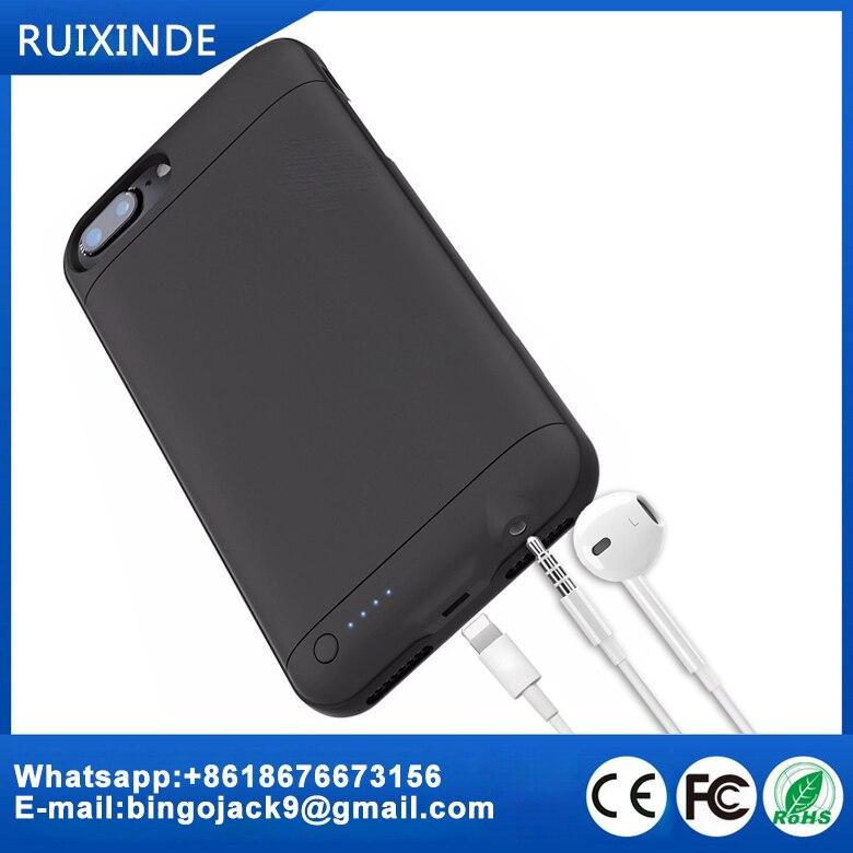 imágenes para 3.5mm para auriculares jack adaptador de audio para iphone 7 plus cargador de batería de carga caso