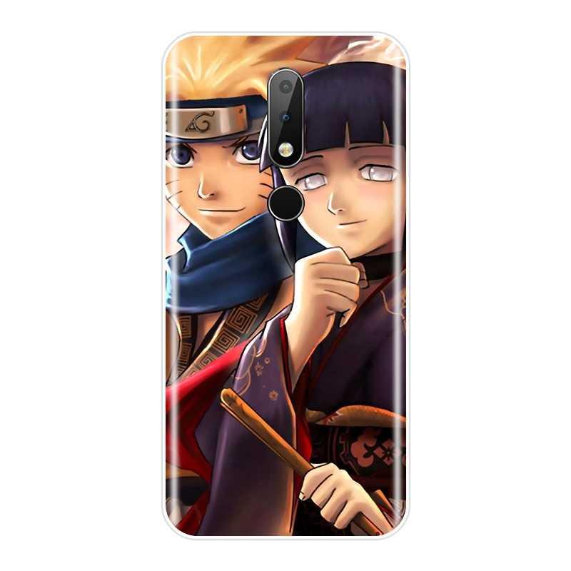 Funda trasera suave para Nokia 2,1 3,1 5,1 6,1 7,1 Plus dibujos animados Anime Naruto Sasuke funda de teléfono de silicona para Nokia 2,1 3,1 5,1 6,1 7,1