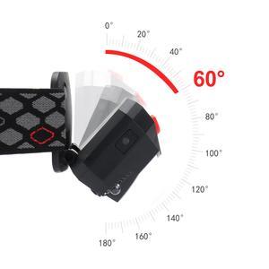 Image 4 - 6000LM モーションセンサー誘導 Led ヘッドライトヘッドランプ充電式内蔵バッテリーヘッドトーチランプ赤集魚灯