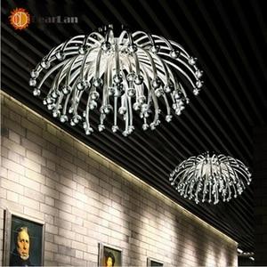 Image 3 - Criativo moderno Candeeiros de Tecto, prata Banhado Acrílico Coral Luzes Para Sala/Quarto/Cozinha Sala Para Decoração (XP 50)