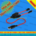 2015 NEW China Android Boot Mini and Micro Combo Cable Work for Volcano box +HK Post Free
