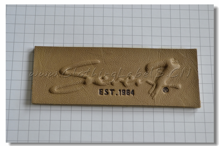 custom leather labels for casual women/men dress, clothing labels and tags, embossed/engraved logo, making your design for free