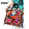 Chinese Brand Ladies Large Hmong Boho Flower Embroidery Bags Ethnic Crossbody Bag Embroidered Sequins Handbags Sac a Dos Femme