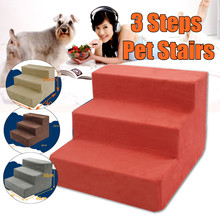 3 Steps Portable Pet Dog Cat Stairs Ramp Easy Way Ladder Cover Indoor Nonslip Sofa Bed Leather Cover Dog Accessories Universal(China)