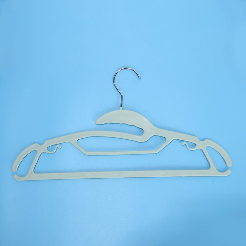 10Pcs Anti-slip Plastic Clothes Hangers Bathroom Clothing Drain Towel Drying Rack Hanger Hook Laundry Accessories