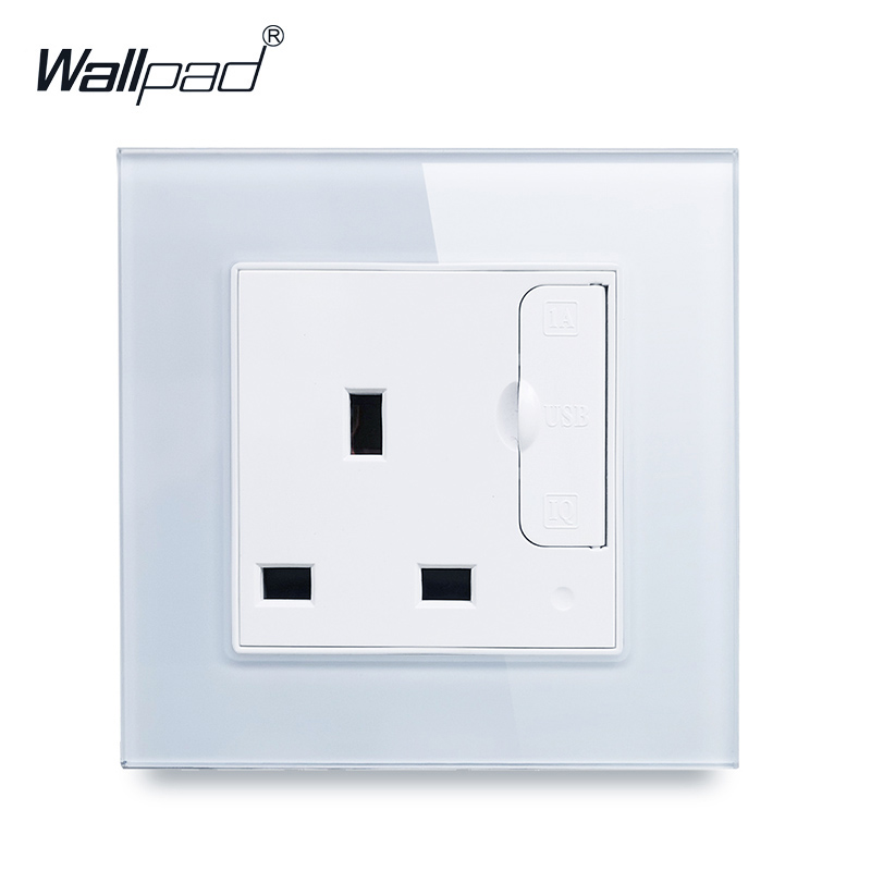13A Socket with 2 USB Wallpad Luxury Crystal Glass Panel 110V-250V 110V-240V 13 amp UK Standard Socket with Two USB Ports13A Socket with 2 USB Wallpad Luxury Crystal Glass Panel 110V-250V 110V-240V 13 amp UK Standard Socket with Two USB Ports