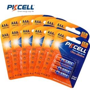 Image 1 - PKCELL 1.5 V LR03 AAA Batterijen Alkaline Enkele Gebruik E92 AM4 MX2400 3A Batterij = 48 Pcs/12 kaart