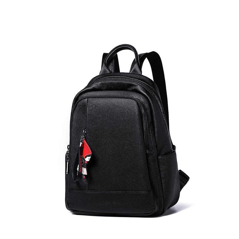 Modelos de explosão nova moda saco 2019 senhoras mochila estudante de grande capacidade de simples feminino atacado e varejo frete grátis