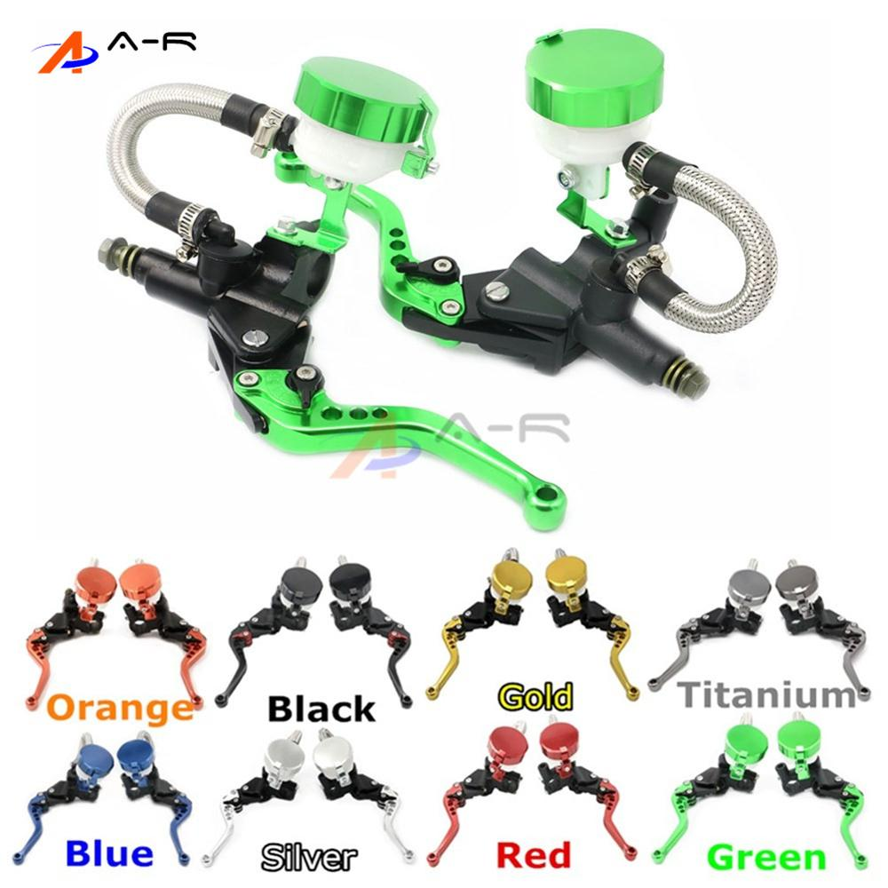 CNC 22MM 7/8'' Clutch Brake Levers Master Cylinder Reservoir for Kawasaki ZX1400/ZX14R/ZZR1400 2006-2012 ZXR750 1989-1995 free shipping motorcycle 7 8 22mm clutch lever brake hydraulic master cylinder levers for kawasaki ninja zx 6r 636 zx 10r