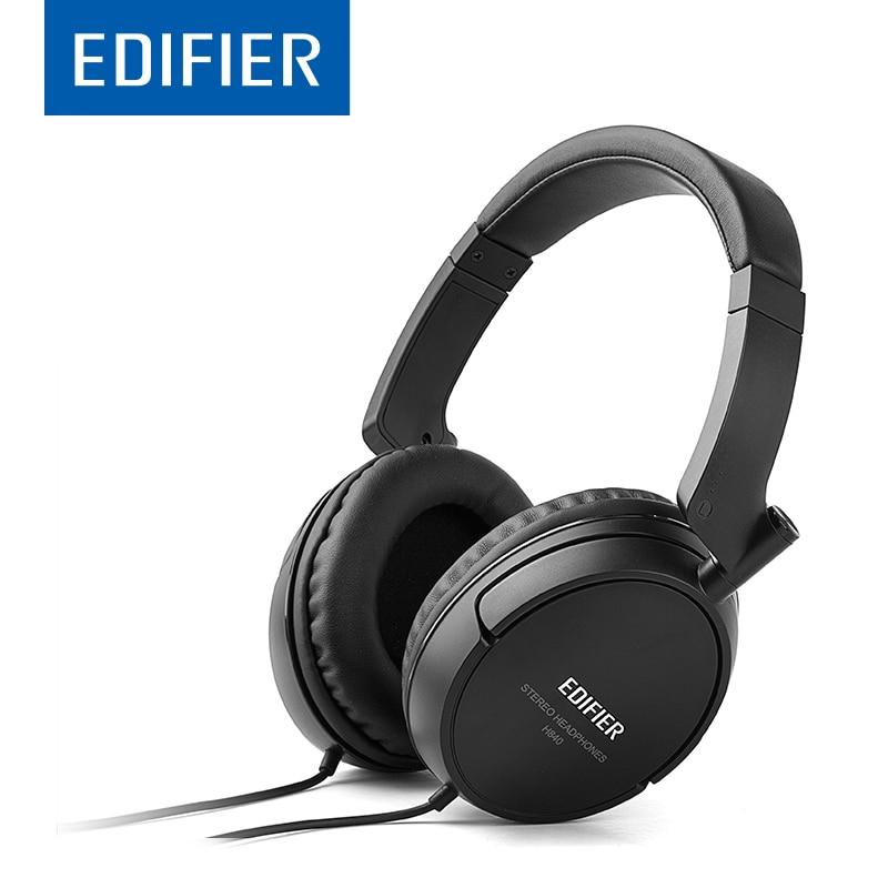 EDIFIER H840 HIFI Headphones Noise Cancelling Folding Design Powerful Headset Durable Stereo Pure Sound Vibrant Bass