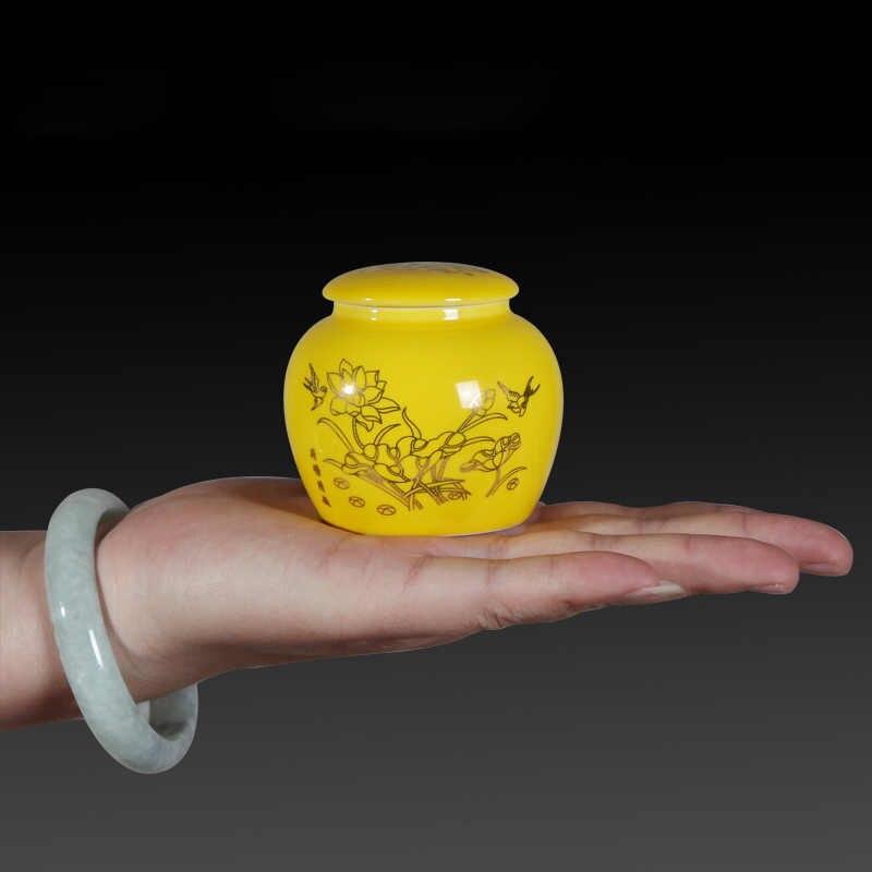 Керамические мини-контейнеры для чая Caddy coffee Bean благовония горшок для пудры контейнеры для хранения специй уплотнительная баночка контейнер для хранения в винтажном стиле домашний декор