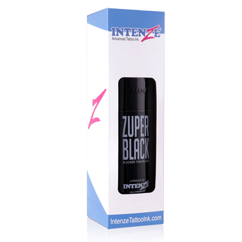 Botella grande ZUPER negro tatuaje tinta 12 oz (360 ml)