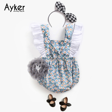 Baby Girl Clothes 2019 Summer Sleeveless Bodysuit Costum Newborn Clothing One Piece Jumpsuit Flower Cotton Baby Clothes Outfits