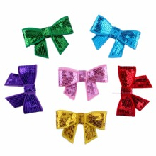 1Pc Bowknot Patch 6 colors choice Sew On Clothes Patches DIY Jeans Garment Dress Appliques Accessory Women Sequined Patches