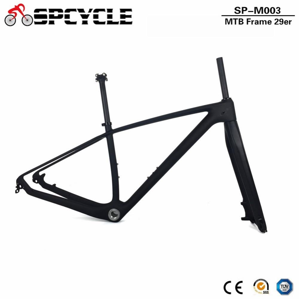 Spcycle 2019 New Model Full Carbon MTB Bicycle Frame 27.5er 29er Mountain Bike Carbon Frameset Include Fork Seatpost Headset