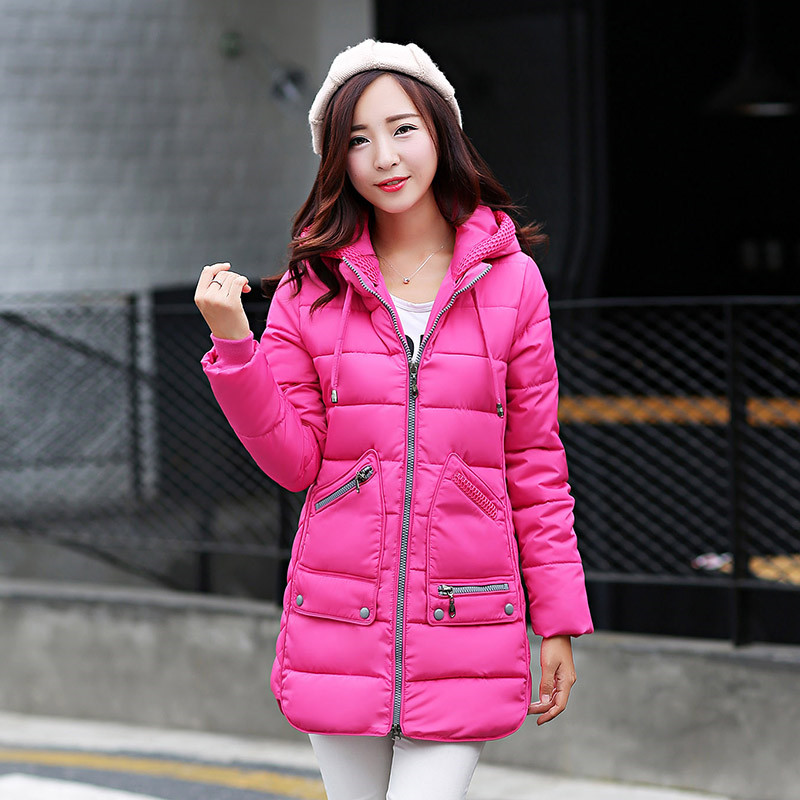 Sweet Style Large Size Winter Parka Fashion Hooded Down Cotton Padded Coat Long Thicker Slim Down Jacket Winter Coat Women TT122 winter hooded warm medium long parka slim fashion winter coat women large size cotton padded winter jacket overcoat tt3320