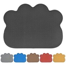 1PC Solid Pet Dog Cat Litter Mat Puppy Kitty Dish Feeding Bowl Placemat Tray Tidy Easy Cleaning Sleeping Pad