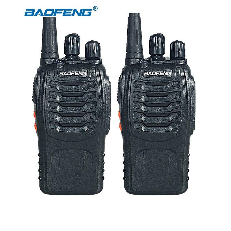 2 pcs baofeng Noir couleur 888 s talkie walkie UHF ham radio 400-470 MHZ Jaune couleur 5 W de poche portable radio pour la chasse