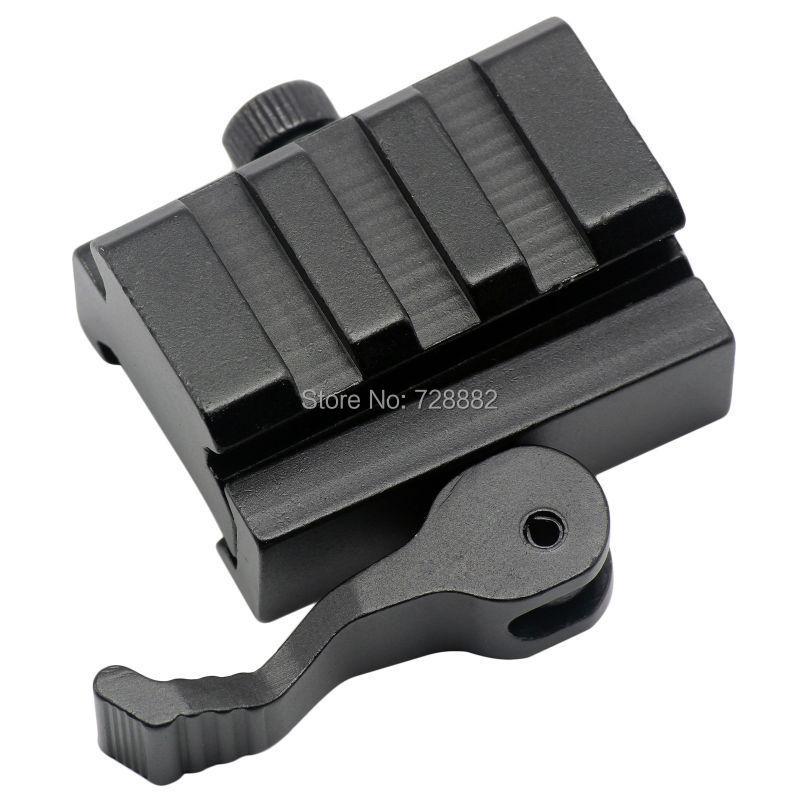 QD rychloupínací montážní adaptér 3 otvory pro rychlý odpojení záběrů montážní držák pro montáž na stěnu 20mm Picatinny Weaver příslušenství pro lov na železnici
