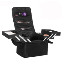 ALYMLH Brand Women Beauty Professional Cosmetic Case Large Multilayer Clapboard Organizer Makeup Tattoos Nail Art Tool