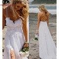 Beach Cheap Vestidos Spaghetti Strap Wedding dresses Lace Front Short Long Back 2016 Bride Dress Top Selling