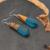 1 Par Brinco de Resina de Jóias de Design Exclusivo Mulheres Brinco Melhor Presente De Madeira Stereoscopic Triângulo Forma de Resina Brincos de Madeira