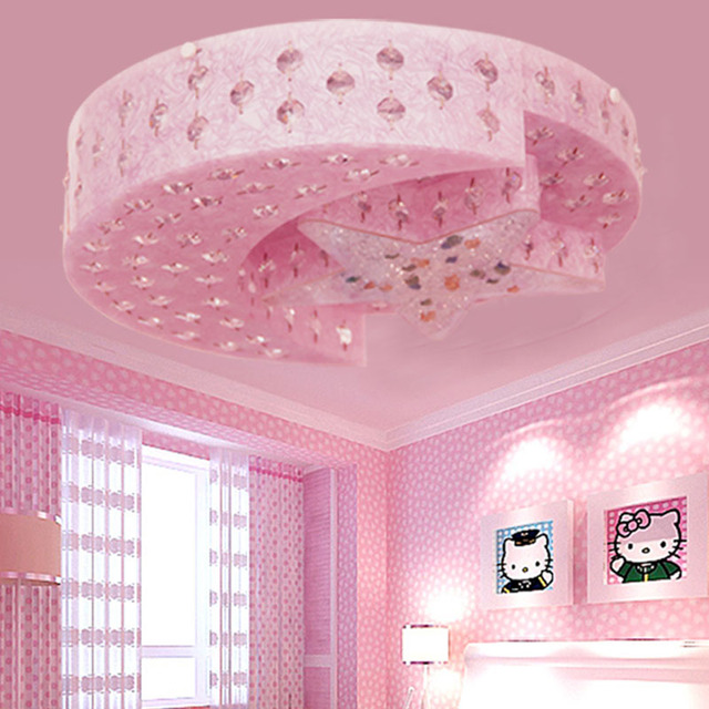 Star moon childrens led ceiling lights lamp male bedroom crystal star moon childrens led ceiling lights lamp male bedroom crystal lamp girl cartoon princess boy childrens mozeypictures Image collections