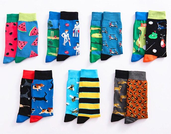 Men's happy socks skateboard fine sulfur cotton street funny socks male hip popular colorful dot yin and yang casual men's socks