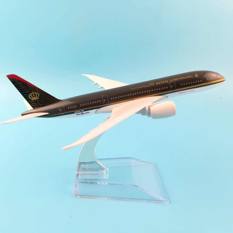 airlines boeing 787 royal jordanian  aircraft model aircraft model simulation 16 cm alloy christmas toy gift for kids
