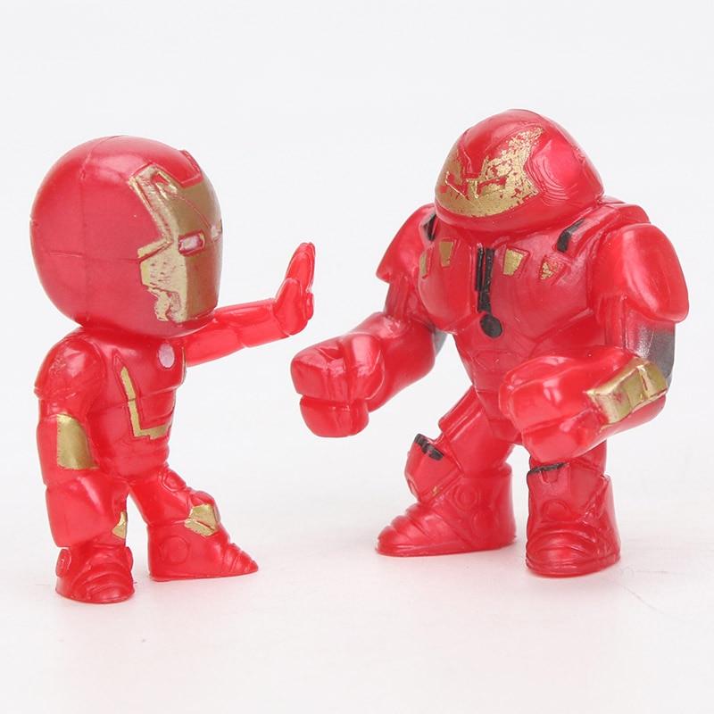 12stk Q-versjonen Avengers Figur Set Marvel Leker 4-5cm Iron Man Thor - Toy figurer - Bilde 6