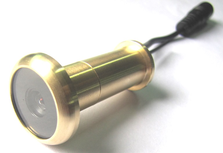 58ghz Wireless Receiving Pure Brass Door Peephole Camera For Front