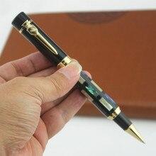 Jinhao 650 الفاخرة قذيفة نحت الأسطوانة الكرة القلم مع الذهب كليب 0.7 مللي متر بنك الاستثمار القومي المعادن التحبير أقلام اللوازم المكتبية للأعمال